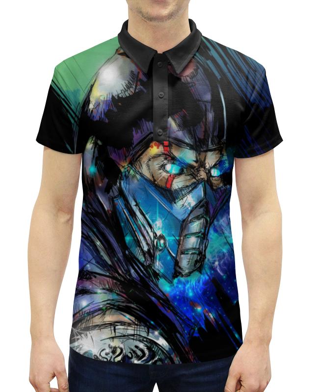 Рубашка Поло с полной запечаткой Printio Mortal kombat x (sub-zero) свитшот унисекс с полной запечаткой printio свитшот mortal kombat x sub zero