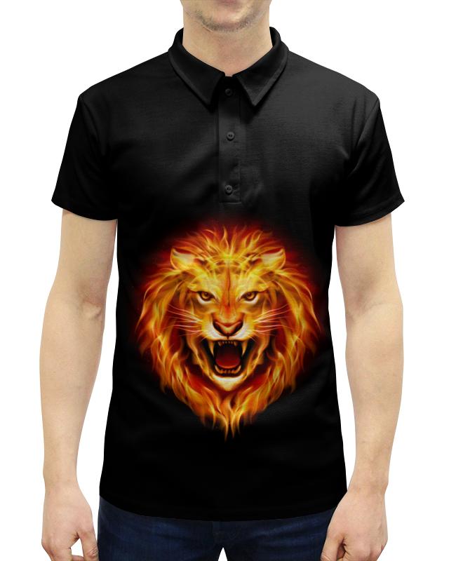 Рубашка Поло с полной запечаткой Printio Огненный лев