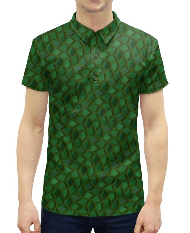 все цены на Рубашка Поло с полной запечаткой Printio Малахитовая мозаика онлайн