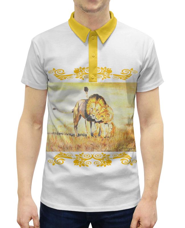 Рубашка Поло с полной запечаткой Printio И жили они долго и счастливо... кто мы жили были славяне