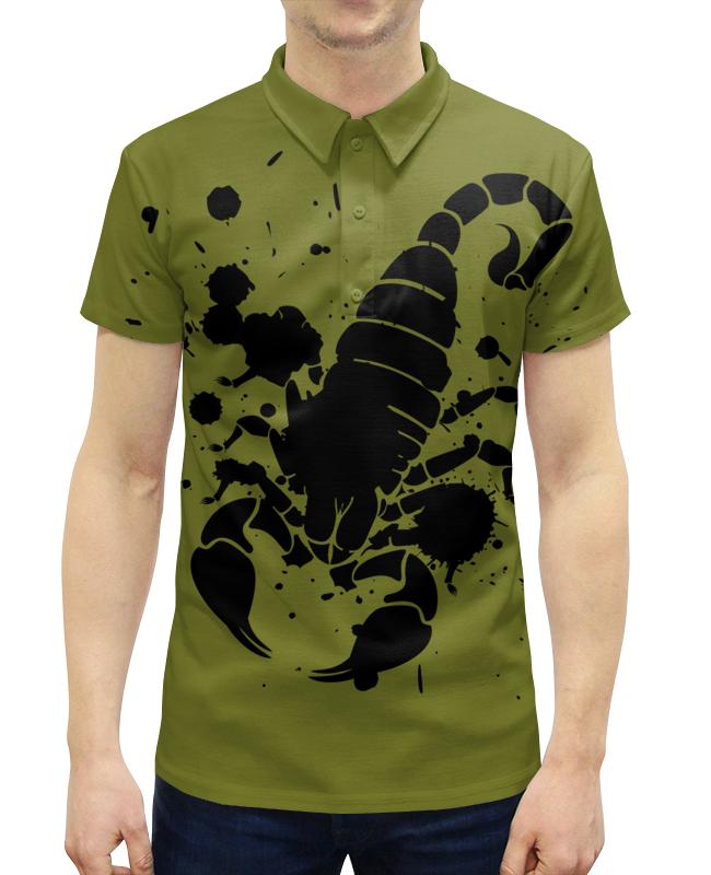 Рубашка Поло с полной запечаткой Printio Скорпион (24.10-21.11)