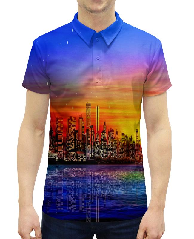 Рубашка Поло с полной запечаткой Printio Город