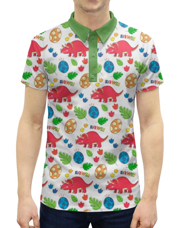 Рубашка Поло с полной запечаткой Printio Динозавры рубашка поло printio фк нефтехимик
