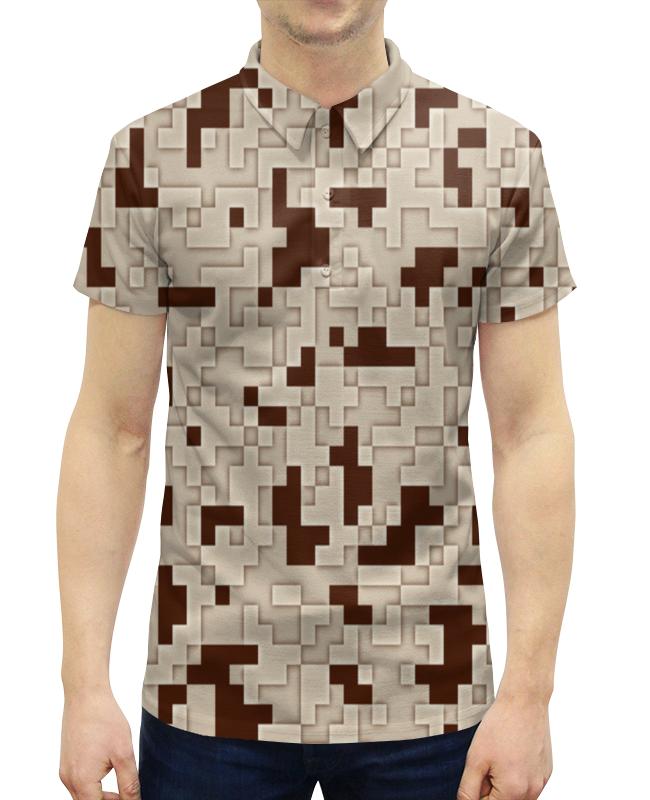 Рубашка Поло с полной запечаткой Printio Камуфляж белый