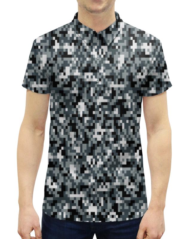Рубашка Поло с полной запечаткой Printio Камуфляж серый худи print bar черно серый камуфляж
