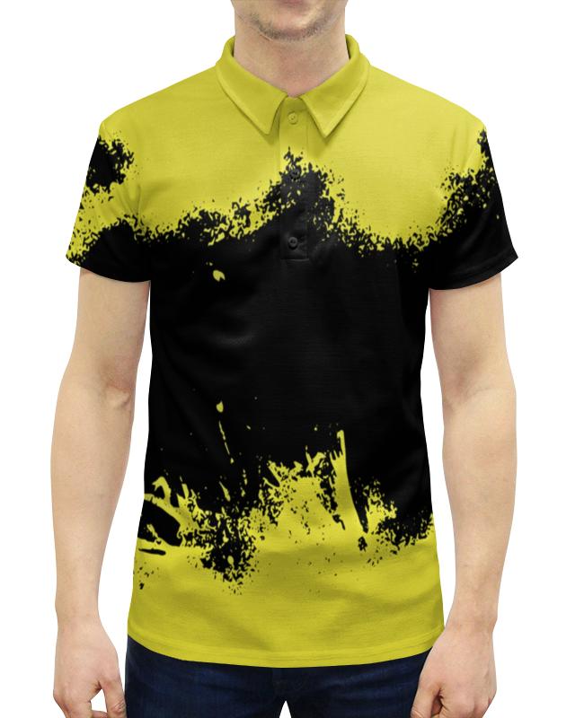 Рубашка Поло с полной запечаткой Printio Черно-желтые краски поло print bar линии краски