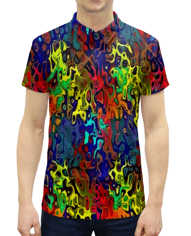 Рубашка Поло с полной запечаткой Printio Пятна краски рубашка поло с полной запечаткой printio пятна краски