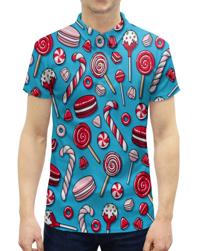 Рубашка Поло с полной запечаткой Printio Сладости сладости раскраска