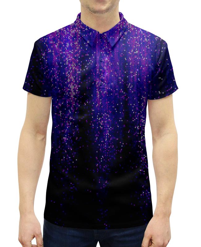 Рубашка Поло с полной запечаткой Printio Синий блеск
