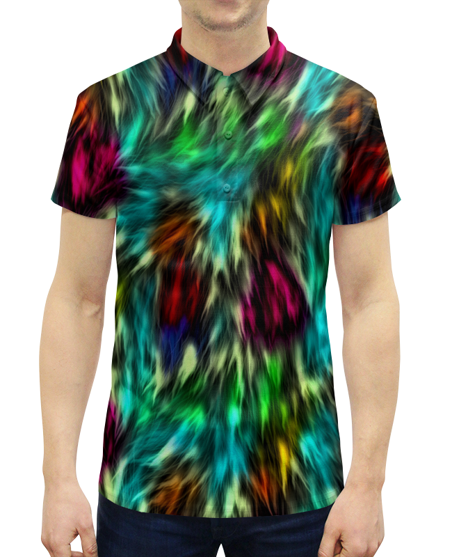 Printio Разноцветные краски рубашка поло с полной запечаткой printio краски