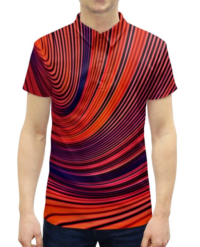 Рубашка Поло с полной запечаткой Printio Цветные полосы юбка карандаш printio цветные полосы