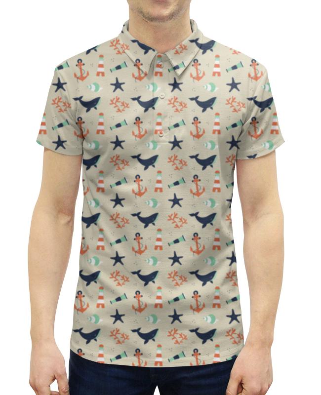 Рубашка Поло с полной запечаткой Printio Акулы серова м клад белой акулы
