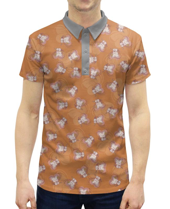 Рубашка Поло с полной запечаткой Printio Котенок с клубком solo1 с