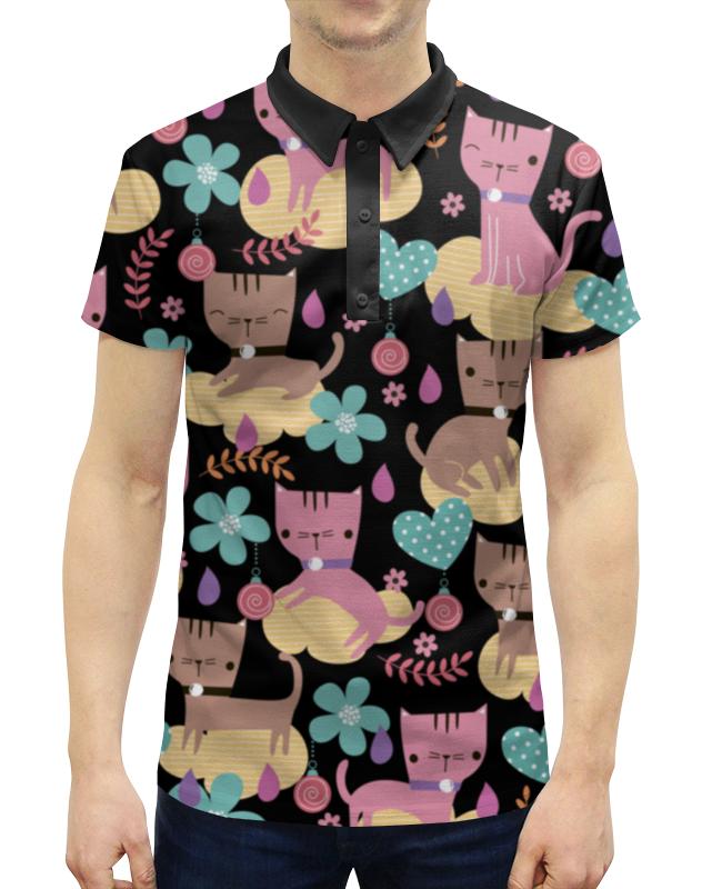 Рубашка Поло с полной запечаткой Printio Весёлые котики поло print bar весёлые черепа