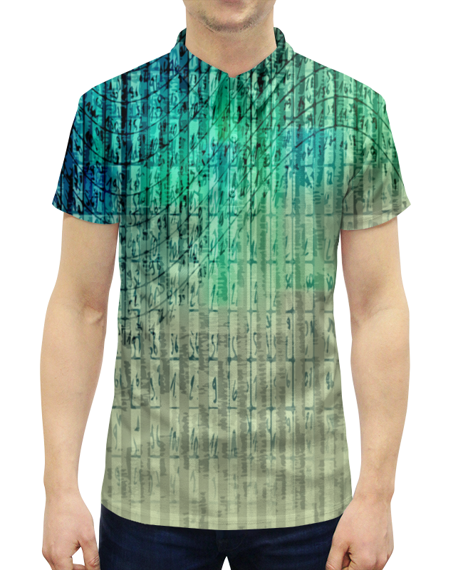 Рубашка Поло с полной запечаткой Printio Иероглифы printio рубашка поло с полной запечаткой