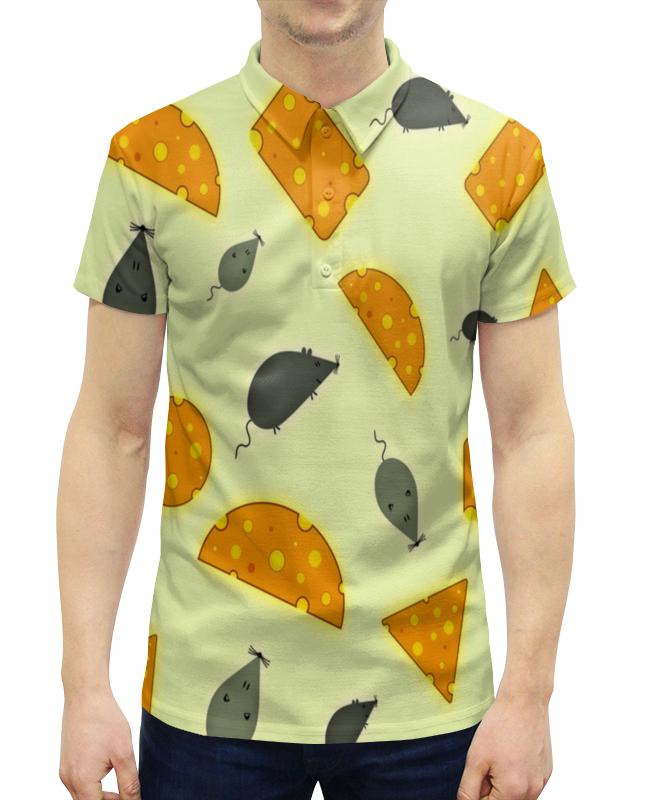 Рубашка Поло с полной запечаткой Printio Мышь и сыр сумка printio сыр вашему дому