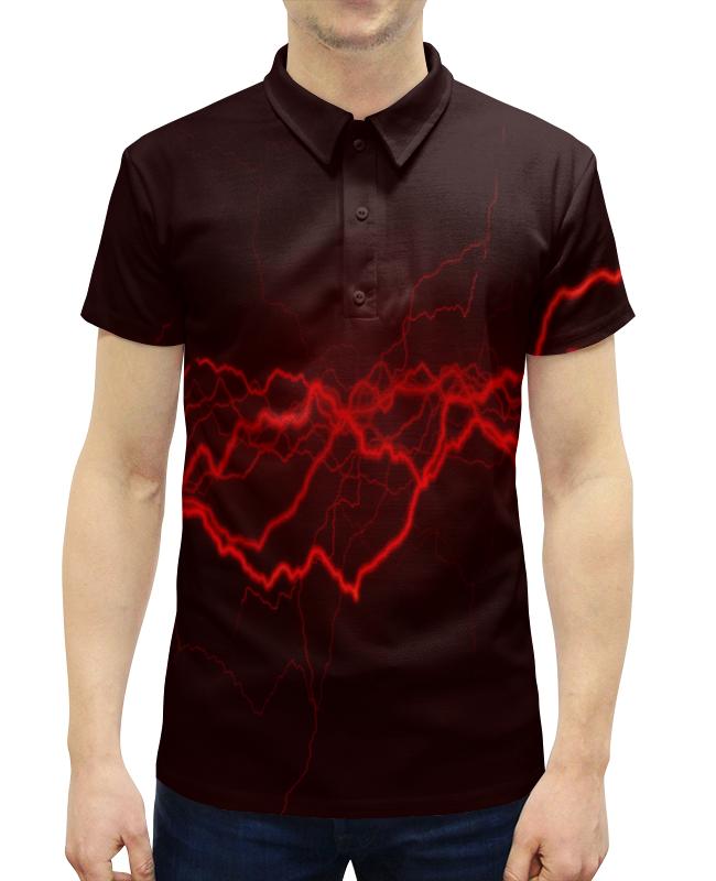 Рубашка Поло с полной запечаткой Printio Молнии