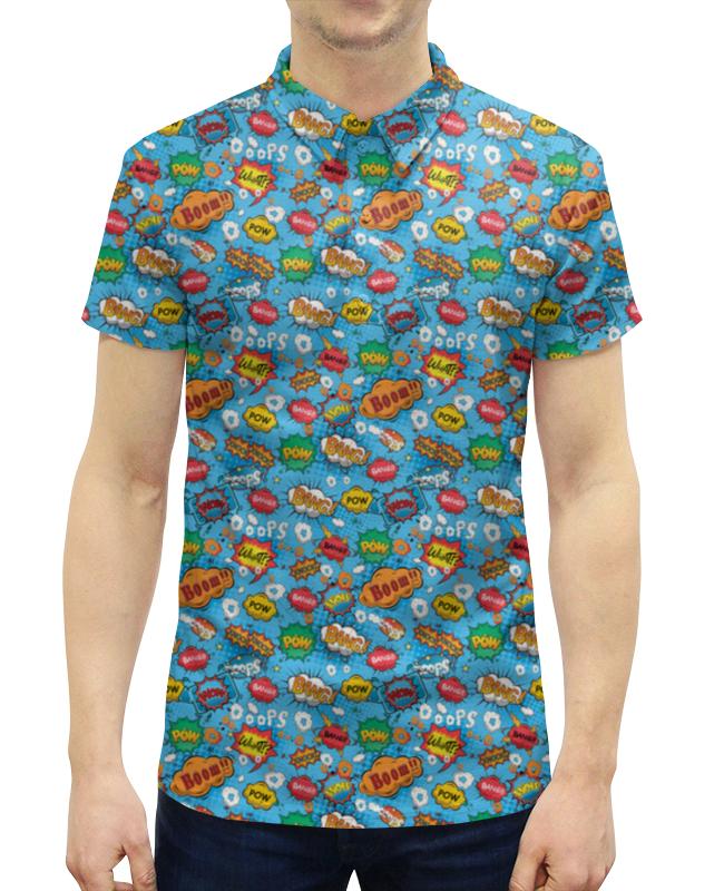 Рубашка Поло с полной запечаткой Printio Boom коллекция