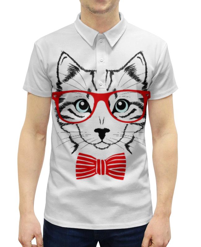 Рубашка Поло с полной запечаткой Printio Кошка андрей дашков домашнее животное