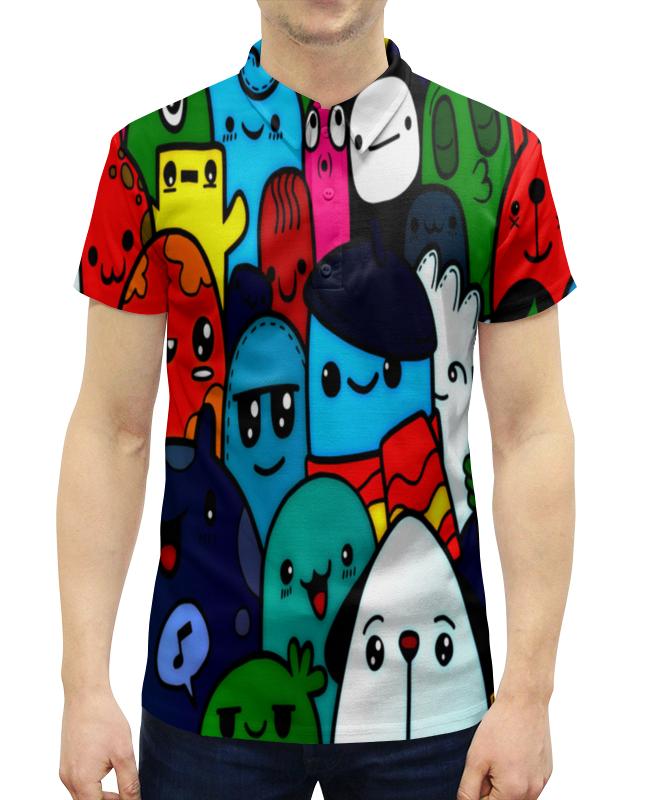 Фото - Printio Цветные смайлы рубашка поло с полной запечаткой printio цветные круги