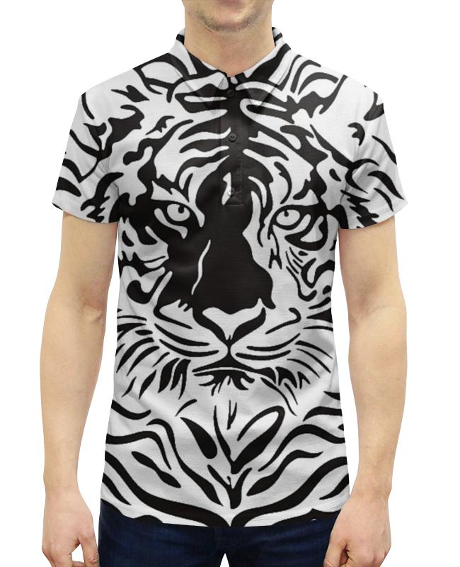 Рубашка Поло с полной запечаткой Printio Взгляд тигра хоук к в поисках тигра