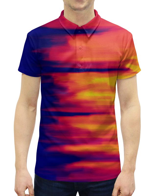 Рубашка Поло с полной запечаткой Printio Размытые цвета футболка с полной запечаткой для мальчиков printio размытые цвета