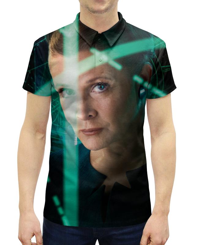 Рубашка Поло с полной запечаткой Printio Звездные войны - лея цена