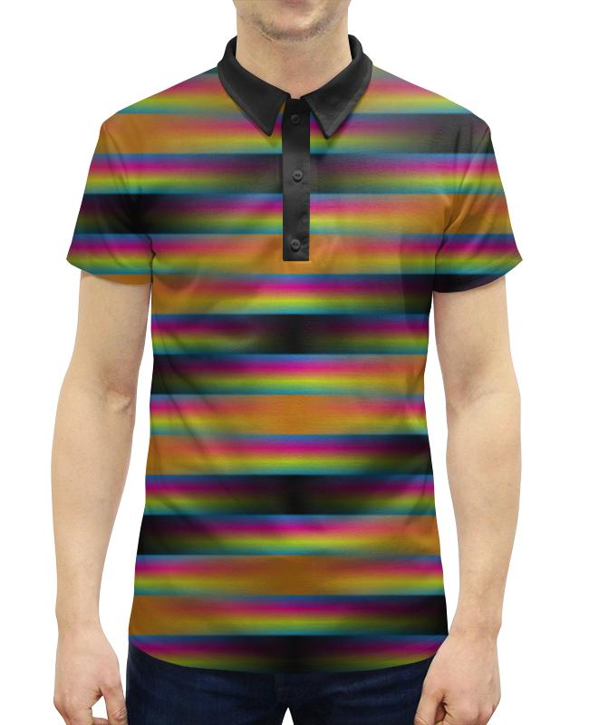 Рубашка Поло с полной запечаткой Printio Абстракция рубашка поло printio фк нефтехимик