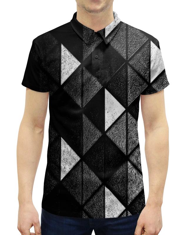 Рубашка Поло с полной запечаткой Printio Черно-белые фигуры рубашка поло printio биткоин черно белый