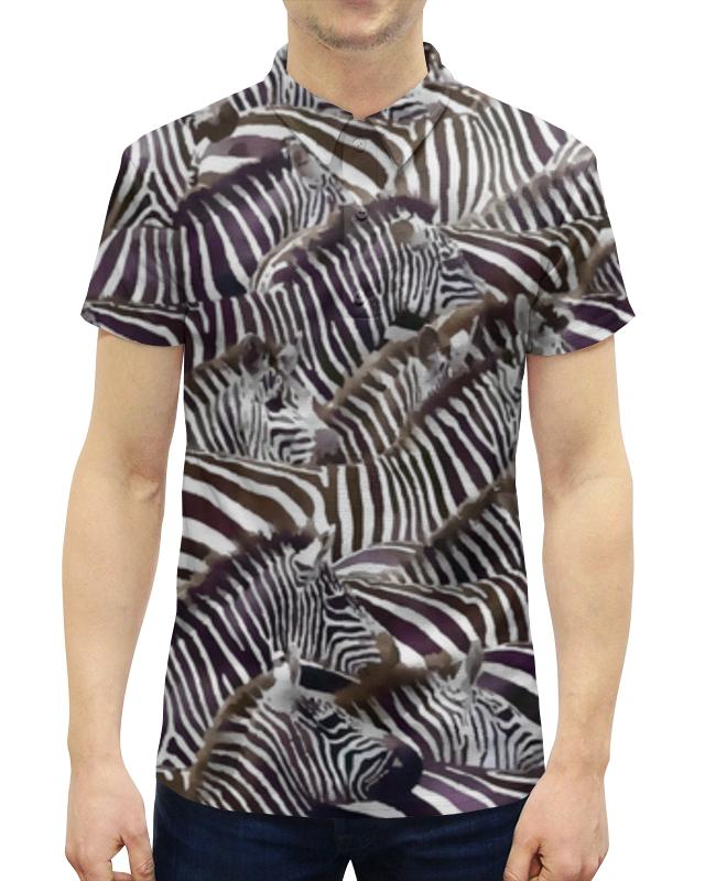 Рубашка Поло с полной запечаткой Printio Зебры