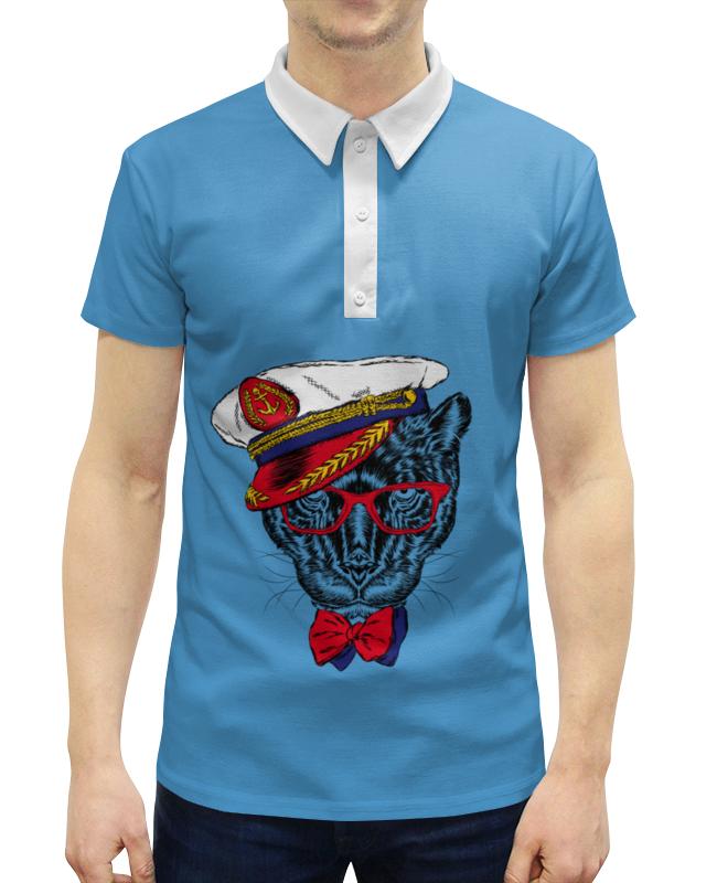 Рубашка Поло с полной запечаткой Printio Кот - мореход рубашка поло printio кот мореход