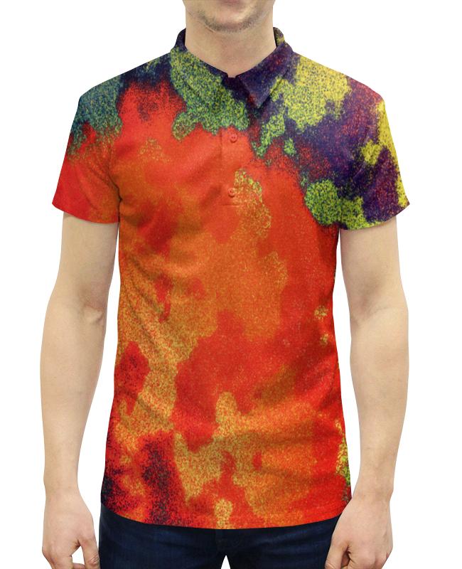 Рубашка Поло с полной запечаткой Printio Цветные брызги цены