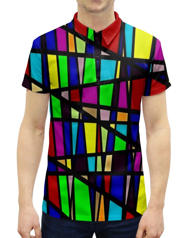 Рубашка Поло с полной запечаткой Printio Line линии цена 2017
