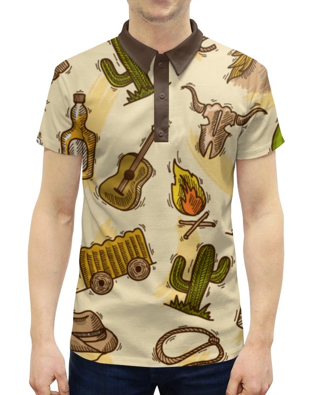 Рубашка Поло с полной запечаткой Printio Дикий запад ванден хейде с храбрый дикий поросенок