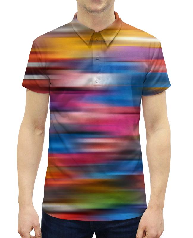 Рубашка Поло с полной запечаткой Printio Краски радуги поло print bar линии краски