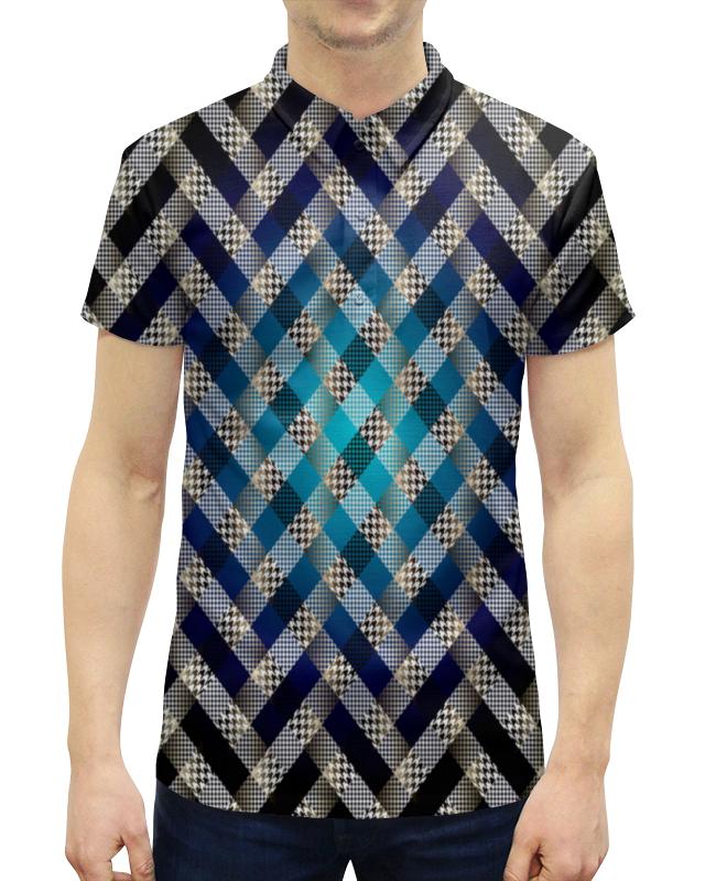 Рубашка Поло с полной запечаткой Printio Цветная клетка