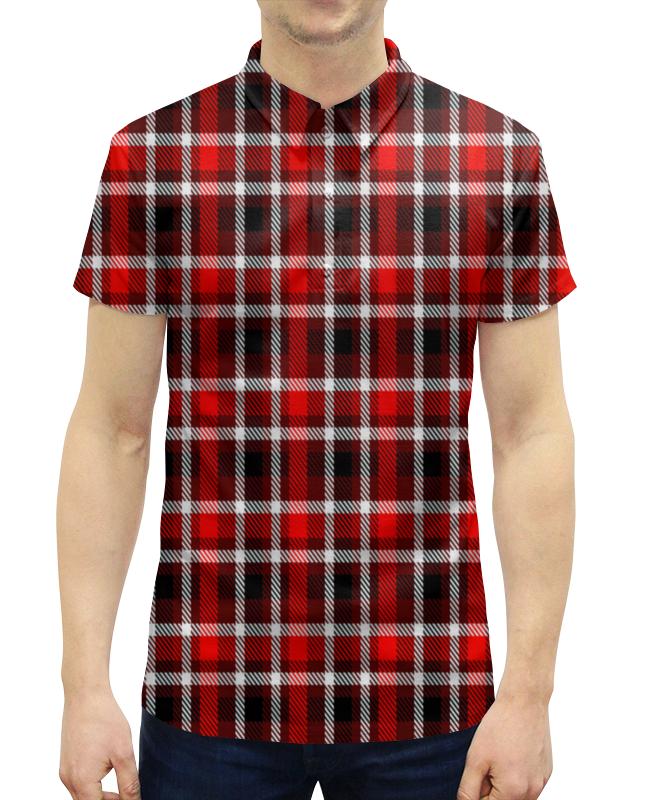 Рубашка Поло с полной запечаткой Printio Шотландка