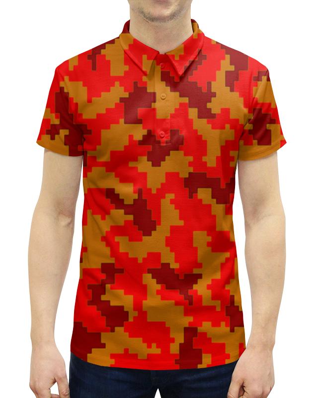 Рубашка Поло с полной запечаткой Printio Яркий камуфляж
