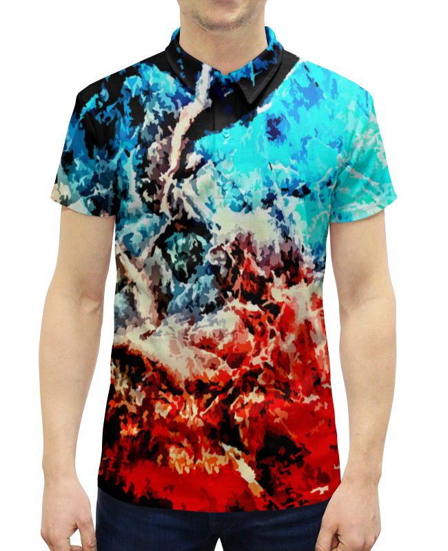 Рубашка Поло с полной запечаткой Printio Лед и пламя рюкзак с полной запечаткой printio лед и пламя
