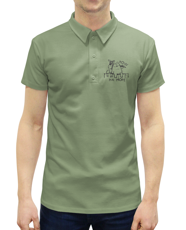 Рубашка Поло с полной запечаткой Printio Хочу на море хочу купить квартиру на ул машиностроения или на велозаводской