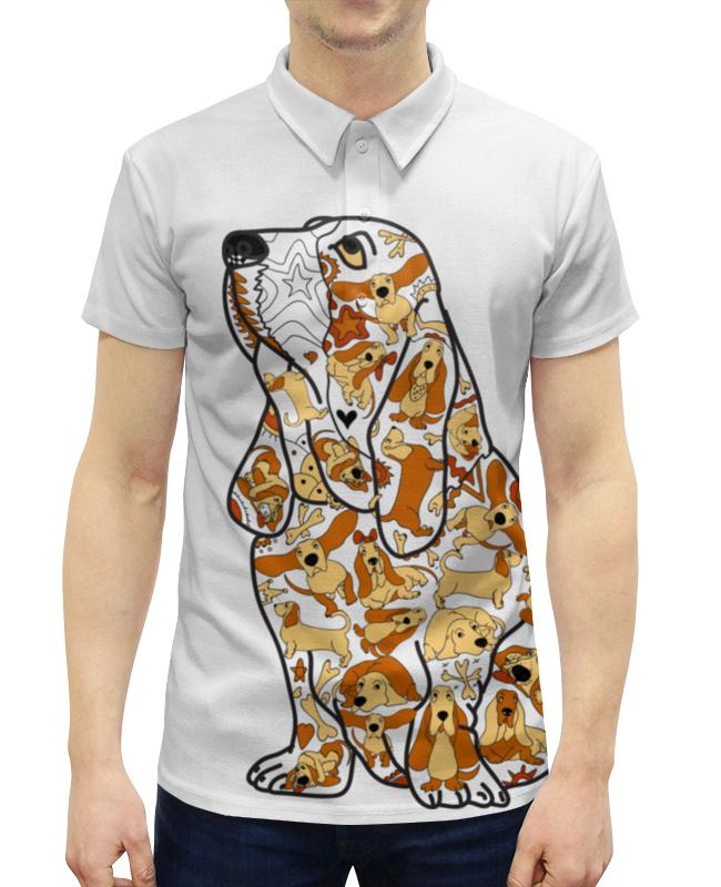 Рубашка Поло с полной запечаткой Printio Смешная собака бассет купить щенкак в донецке бассет