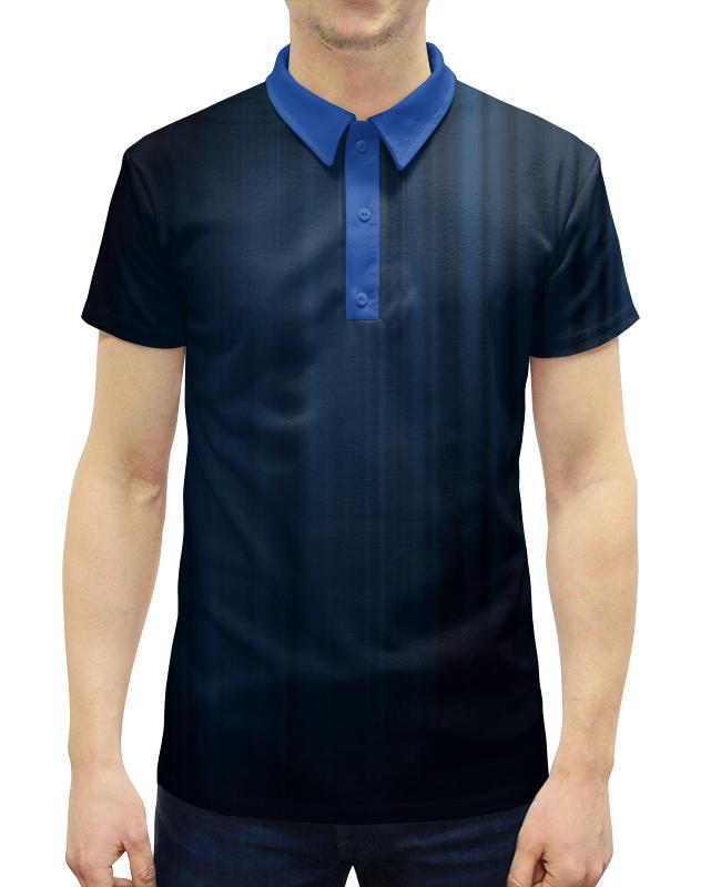 Рубашка Поло с полной запечаткой Printio Северное  сияние гирлянда холодный цвет северное сияние