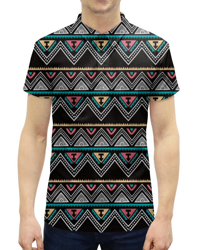 Рубашка Поло с полной запечаткой Printio Графические линии футболка с полной запечаткой женская printio графические линии