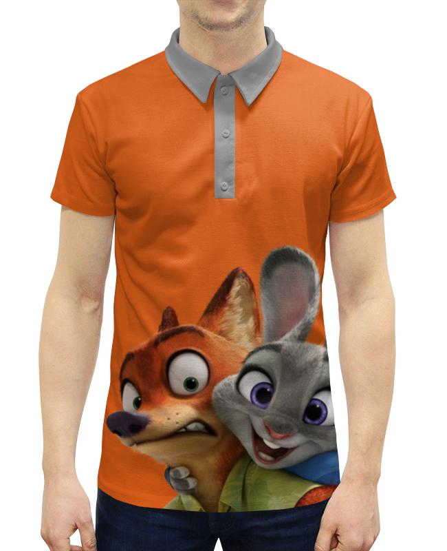 Рубашка Поло с полной запечаткой Printio Зверополис tomy фигурка ник уайлд 25 см зверополис