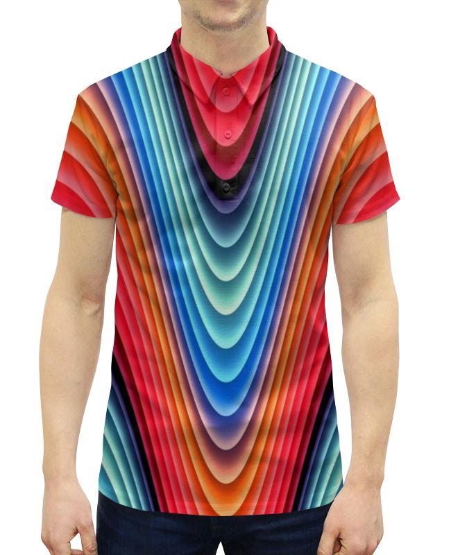 Printio Яркие линии рубашка поло с полной запечаткой printio яркие линии