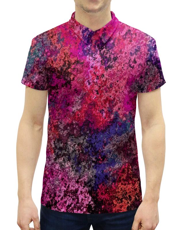 Рубашка Поло с полной запечаткой Printio Брызги рубашка поло printio фк нефтехимик