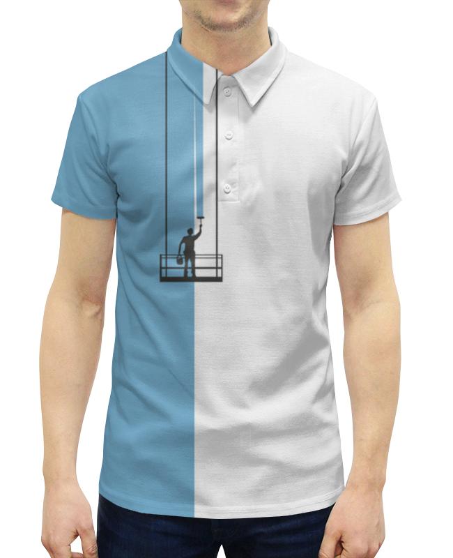 Рубашка Поло с полной запечаткой Printio Маляр футболка для беременных printio маляр или первый мазок