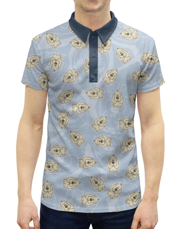 Рубашка Поло с полной запечаткой Printio Собачки собачки на лесках марионетки оптом на украине