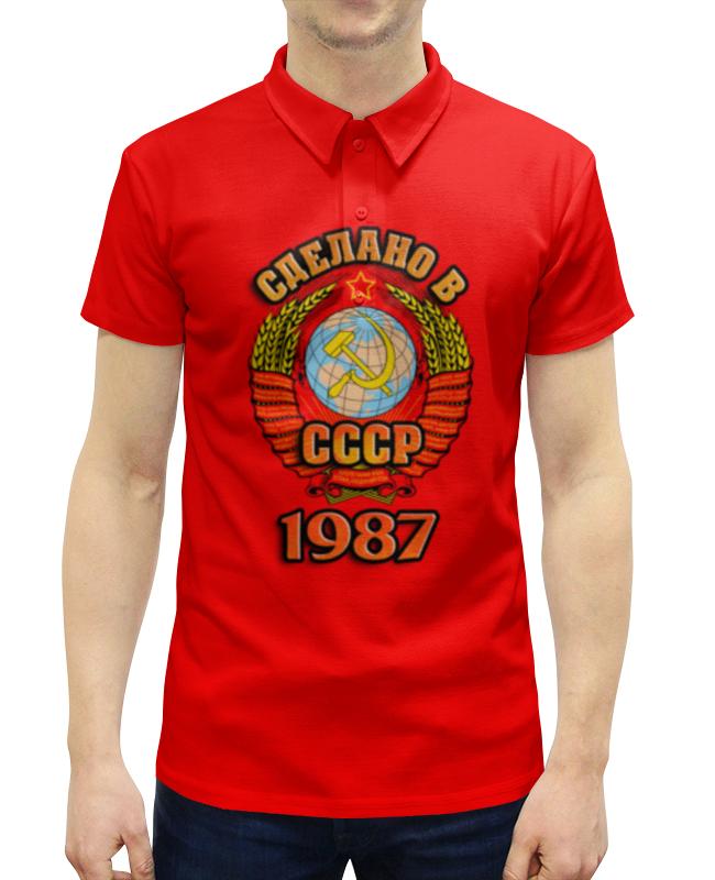 Рубашка Поло с полной запечаткой Printio Сделано в 1987 рубашка поло с полной запечаткой printio сделано в 1973