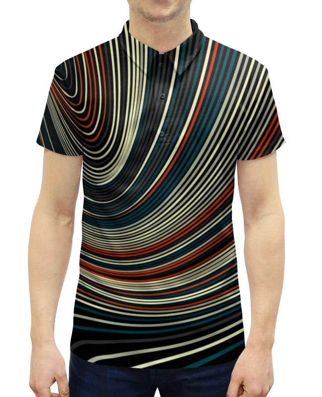 Рубашка Поло с полной запечаткой Printio Линии цветные рубашка поло с полной запечаткой printio линии